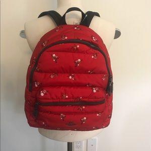 Coach puffer backpack